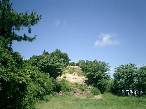 """041) """"天園ハイキングコース"""" 進行中。'太平山'山頂出発。下ってきた"""