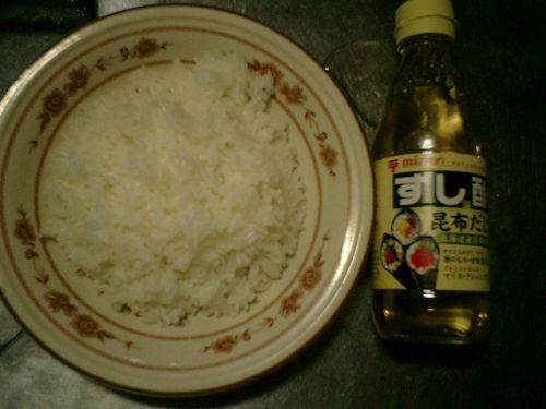 01) 市販の「すし酢」で寿司飯の準備
