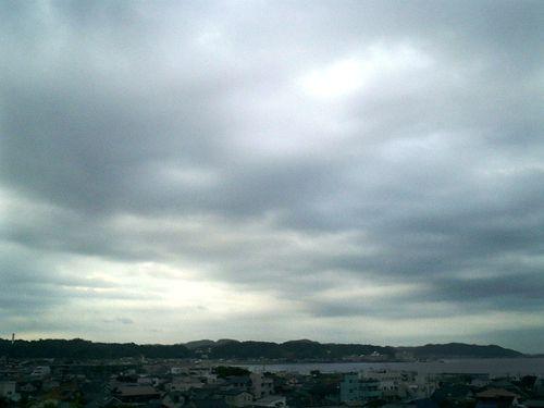 13)鎌倉市長谷「長谷寺」見晴台から、材木座~逗子~葉山方向を撮った。