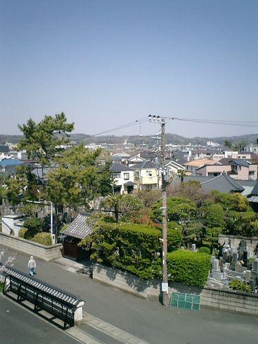 15)鎌倉市材木座「光明寺」山門の上から「千手院」を見る
