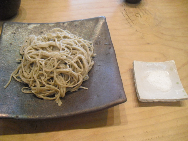 03) 「十割蕎麦」&塩_蕎麦「梵蔵」