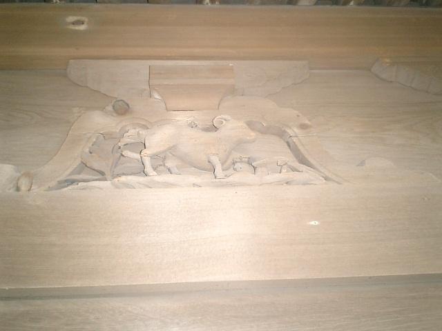 10) 鎌倉「英勝寺」_仏殿(寳珠殿)正面側の彫刻、左。