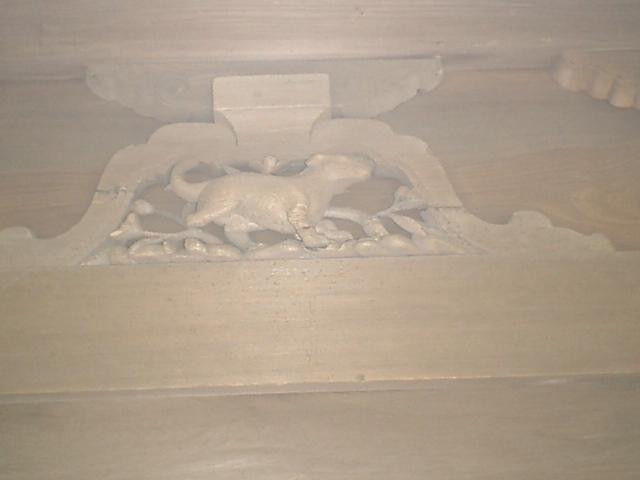 14) 鎌倉「英勝寺」_仏殿(寳珠殿)左側面の十二支彫刻、左。