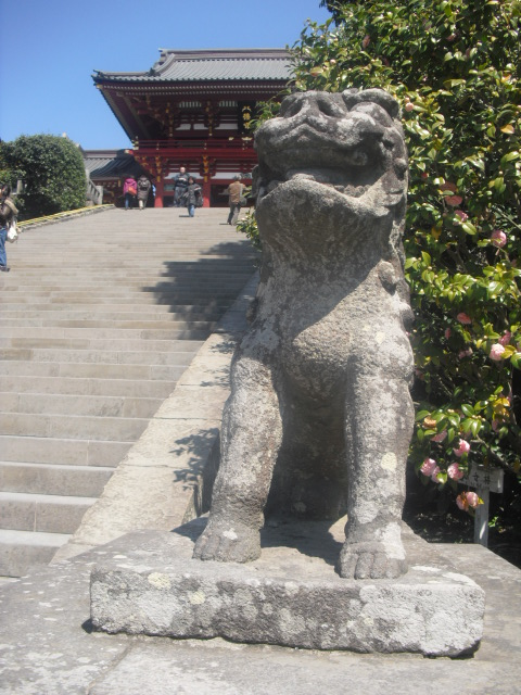 09) 阿形獅子像