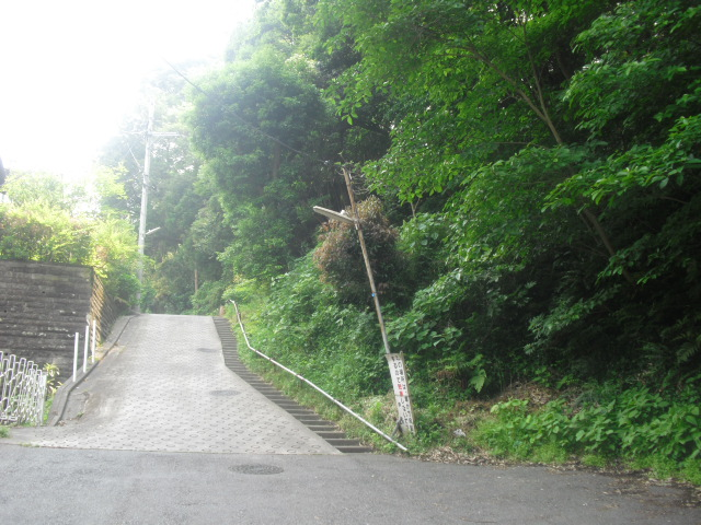 01) 「鎌倉市立稲村ガ崎小学校」から谷戸へ入り、最奥まで2/3ほど進んだ場所。