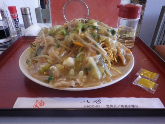 02) 「五目焼きそば」( かた焼き) ¥830