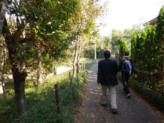 30) 拍子抜けするように、「大仏ハイキングコース」の山中道が終了して、民家が立ち並ぶ地域に出た。 _ 10:04am頃