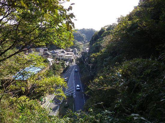 13) ' 大仏トンネル ' の上から、鎌倉大仏「高徳院」方向を見る。 _ 9:34am頃