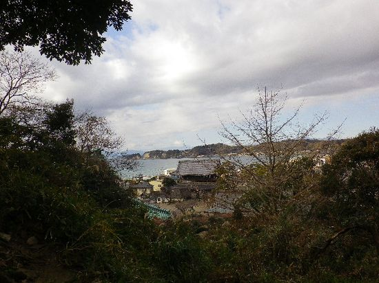 11-04) 眼下の、「光明寺」山門方向を観る。
