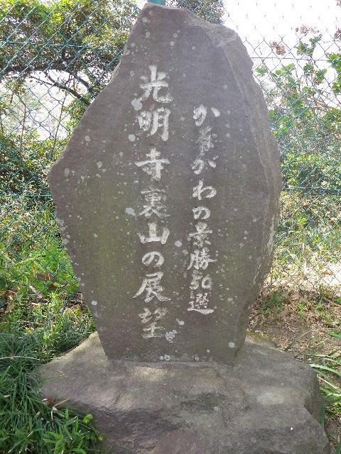"""04) 鎌倉 """" 光明寺裏山の展望 """" 桜満開の頃"""
