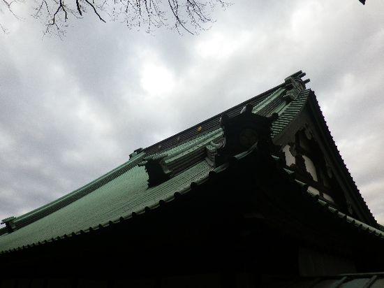 1-17) 光明寺裏から「大殿」の屋根、伝・東海道古道を進行中。 _ 7:55am頃