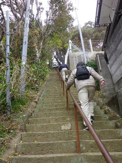12-02)  200段くらい?の階段を登って進行中