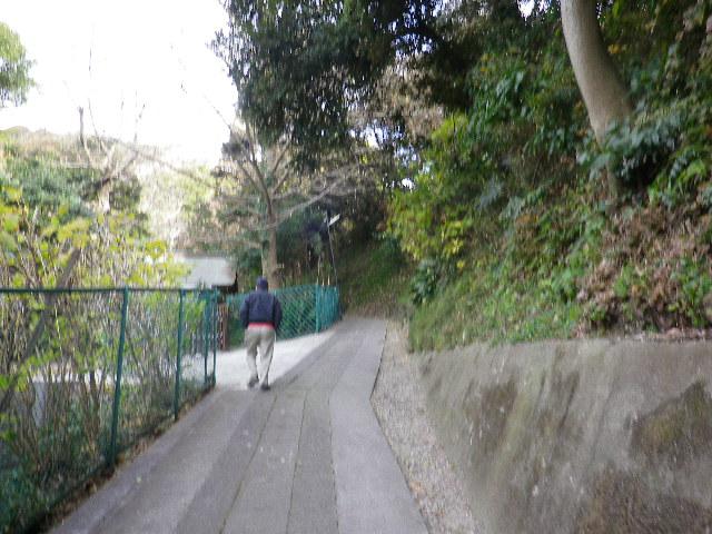 11-01) 境内を通り抜けて、裏の古道を進行。 _  10:55am頃~