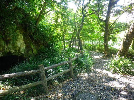 6-01)-2 写真 1-01) とは別の、鉄扉門へ続く道。