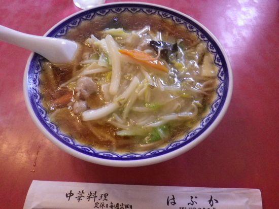 「サンマーメン」 ¥800 食った _ 「はぶか」 鎌倉市大町