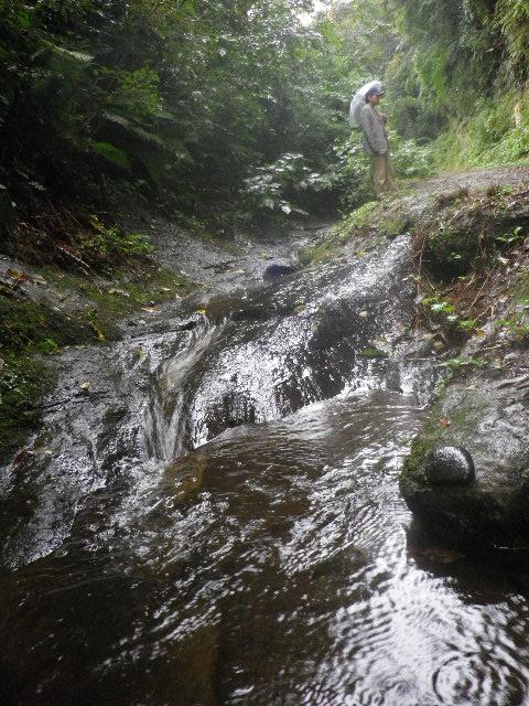 13) ' 滑川  ' 上流の せせらぎ を強調しようと水面スレスレから、あざとい(※  小聡明い)構図! で撮った。