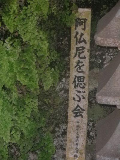 """03) 心がほっこり、"""" 阿仏尼を偲ぶ会 """" の文字。"""