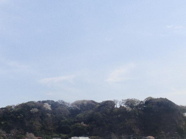 03) 写真02)左方向、「光明寺」背後の ' 天照山 '(≒ ' 住吉城址 ')。 _ 鎌倉市材木座/逗子市