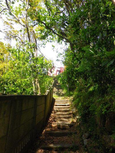 03) 参道に相当する狭い路地