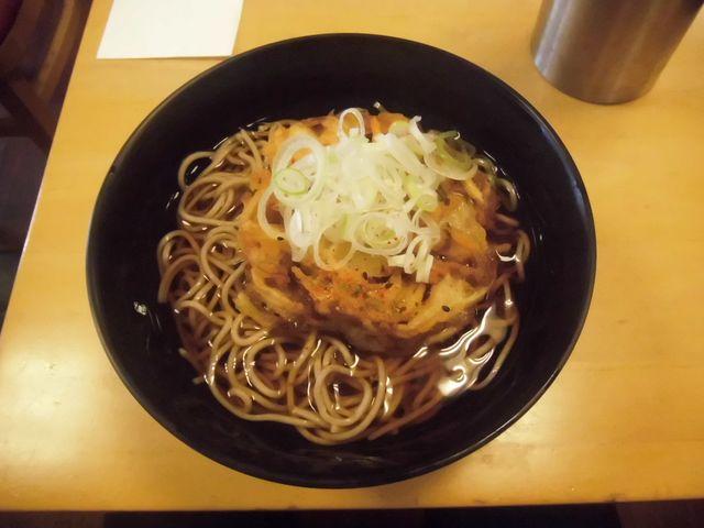 「かき揚げ天ぷらそば」 ¥350 _ 「大船軒」 JR逗子駅店