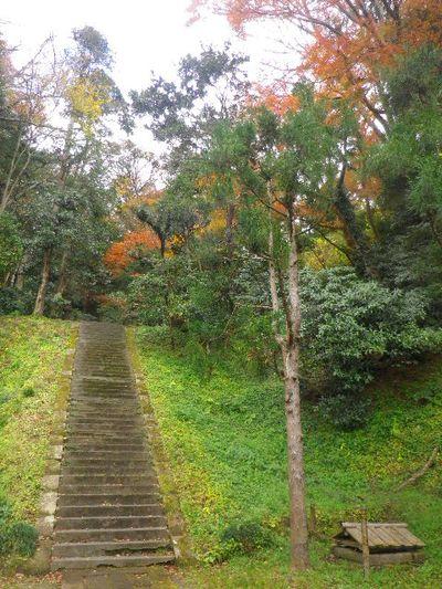 03-4) 「護良親王墓」、一つ目の階段。