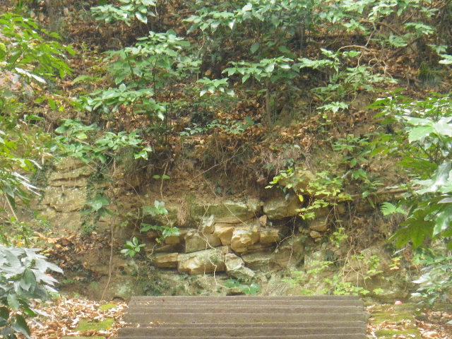 3-10) 「護良親王墓」、ニつ目の階段最上段。他所と同じく、墓石在所への立ち入りと撮影を憚った。