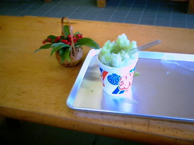 57)カキ氷・宇治¥250