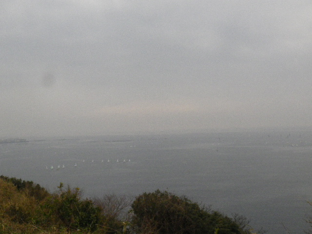 08-3-4/6) 展望場所からパノラマ風撮ったつもり  _ 16.03.06 曇りのち雨の逗子「大崎公園」