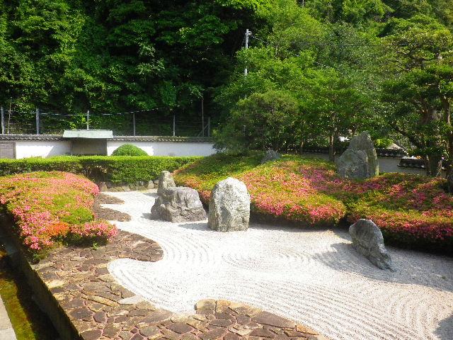 01-2) 16.05.21 鎌倉「光明寺」石庭にサツキが色を添える頃