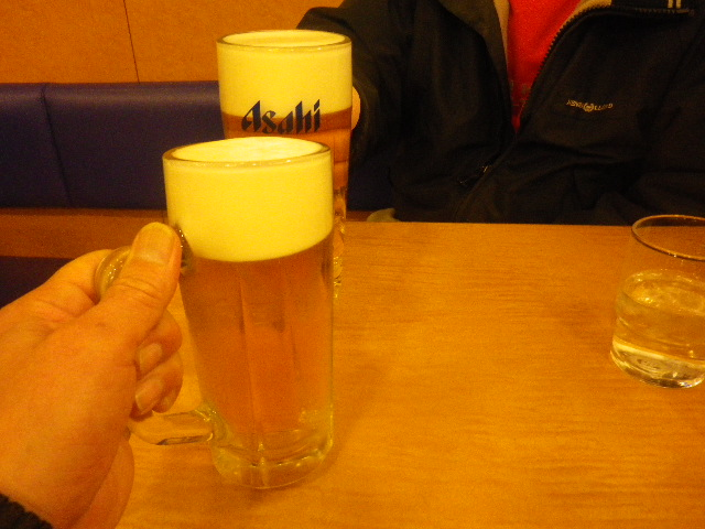 s) 11:18am頃~ お疲れさま! 乾杯!!!