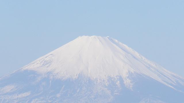 05-2b)  ' マンネリワンパターン ' で見たまま青空が濃くない富士山  17.01.01 平成二十九年 元旦 逗子「披露山公園」