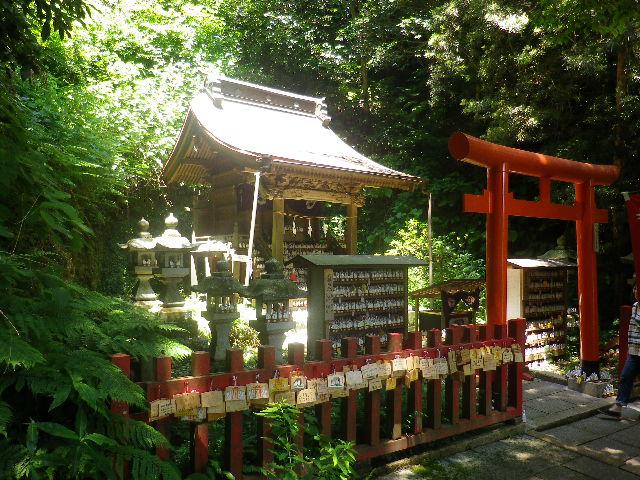C03)  正面からを憚って、拝殿を左斜めから。   17.06.15 鎌倉「佐助稲荷神社」参拝
