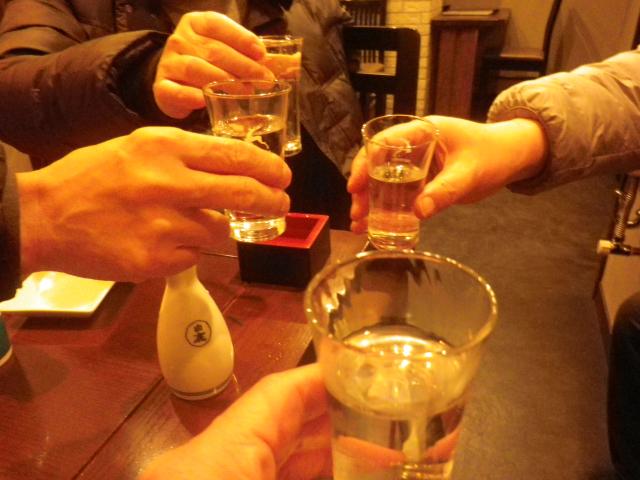 C01)  乾杯! 新年会 ニ軒目 20:02pm頃~  _   18.01.06 友人の墓参 / 新年会