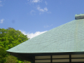 08-1)    18.04.08 「浄妙寺」銅板葺き屋根稜線の美しさに、嘗て茅葺きの原風景を重ねる。