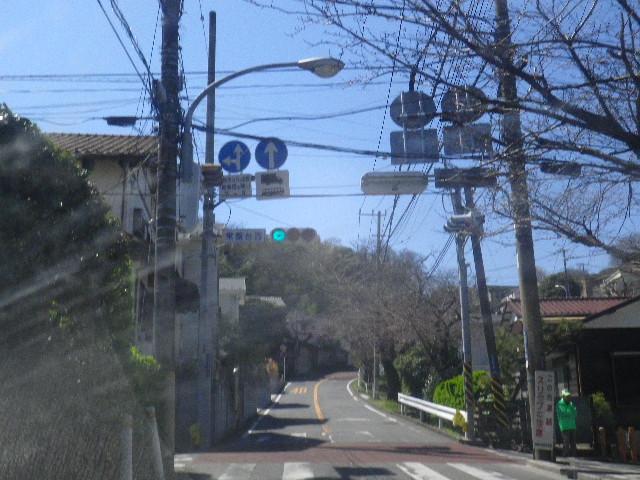 01) ' 鎌倉山 ' への「常磐口」から数十m入って、信号待ちで撮った。 全く役立たずな写真。以降、こんなのが数枚つづく。