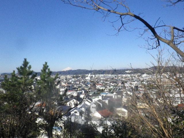02-2) 富士見台からパノラマのつもりで撮った、2/3中。