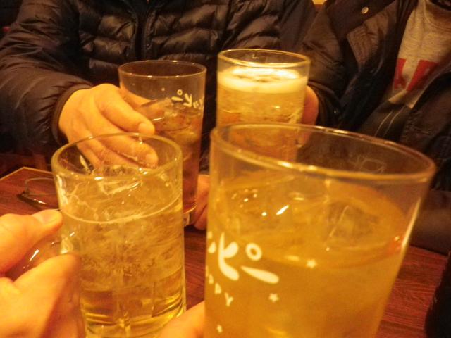 4-02-Take2) 乾杯! 以降の実況写真なし。キス(鱚)てんぷら、メゴチ(女鯒)、他を食った。