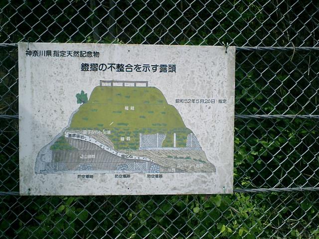 02)   06.05.06 逗子市桜山「鐙摺(あぶずり)の不整合」