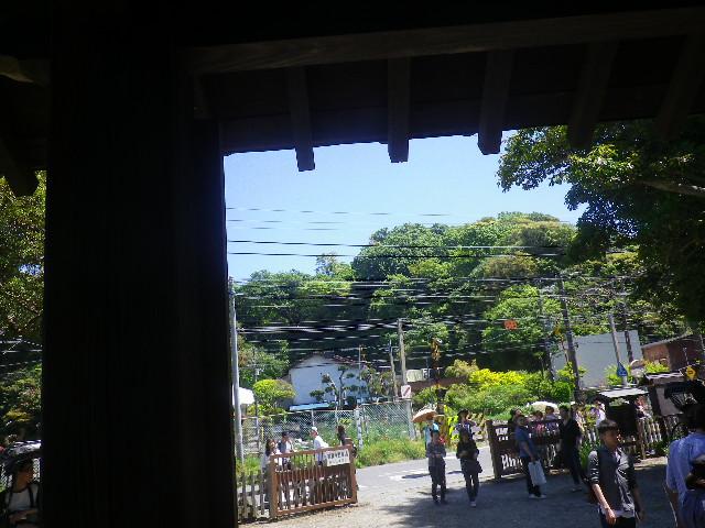 02-5)   惣門下から今小路方向を撮った 17.05.05端午  鎌倉「英勝寺」立夏。