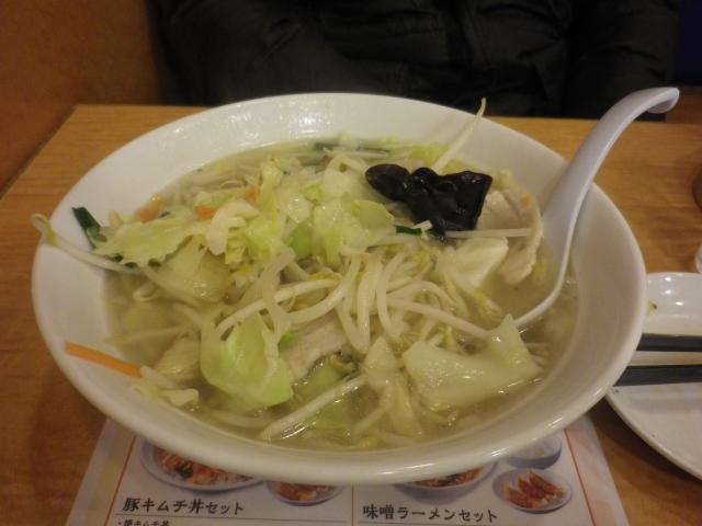 03) Y.K.隊長は「タンメン」を食されました