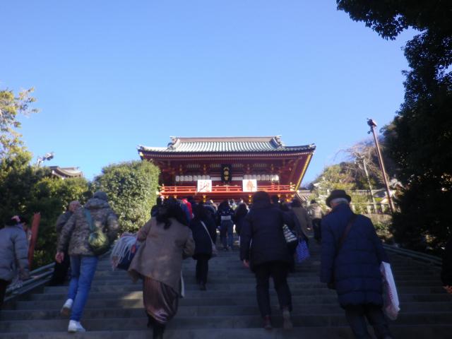 03) 階段を進行中 09:20am頃   18.01.03 鎌倉「鶴岡八幡宮」初詣