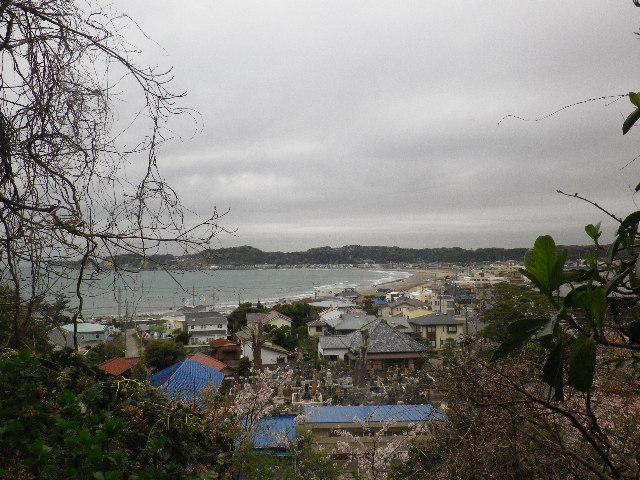 05-1-c) 鎌倉市立第一中学校校門周辺 = 「光明寺」裏からの眺望