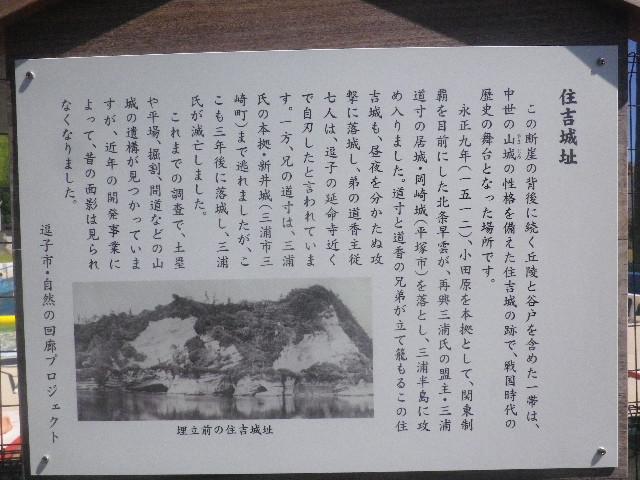 02-1) 「住吉城址」説明看板