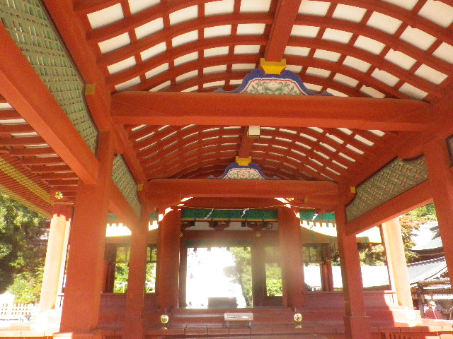 03-2b) ' 舞殿 ' _ 15.11.30 鎌倉「鶴岡八幡宮」葉が色づき始める頃