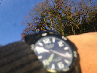 A)7:21am頃 結果的に腕時計よりもカメラ内蔵時計が7分ほど進んだ時刻と発覚したが、念のために撮っておいた。自分だけわかっていればヨイ、遥か昔の元・幣原(しではら喜重郎)