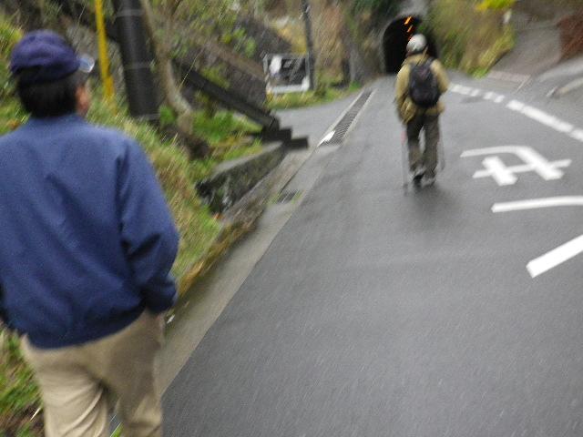 ' 佐助トンネル ' 手前を進行中 9:50am頃~ 16.03.20春分  高血糖値低減対策ウォーキング