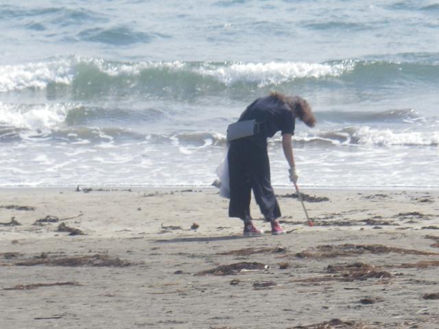 13) 推測だが イベントでもなさそうで申し合わせでもなさそうにお見受けの、自主的に単独で海岸清掃を為さっておられる方。    17.04.23 のどが渇いたから発泡酒のんだ