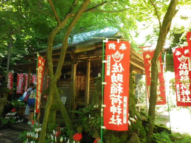 C04)  拝殿を右斜めから   17.06.15 鎌倉「佐助稲荷神社」参拝