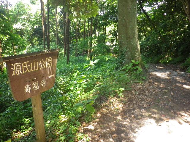 05-2) 写真05-1)左方向。寿福寺へ至る。寿福寺墓地周辺から登るアソコへ通じるのかナ?   17.06.15 鎌倉「源氏山公園」梅雨の合間、晴天で暑い日。