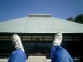 3-08)浄妙寺、近過ぎたので寝転んで撮った